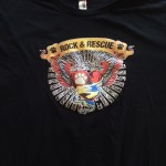 2015 Rock n Rescue t-shirt front