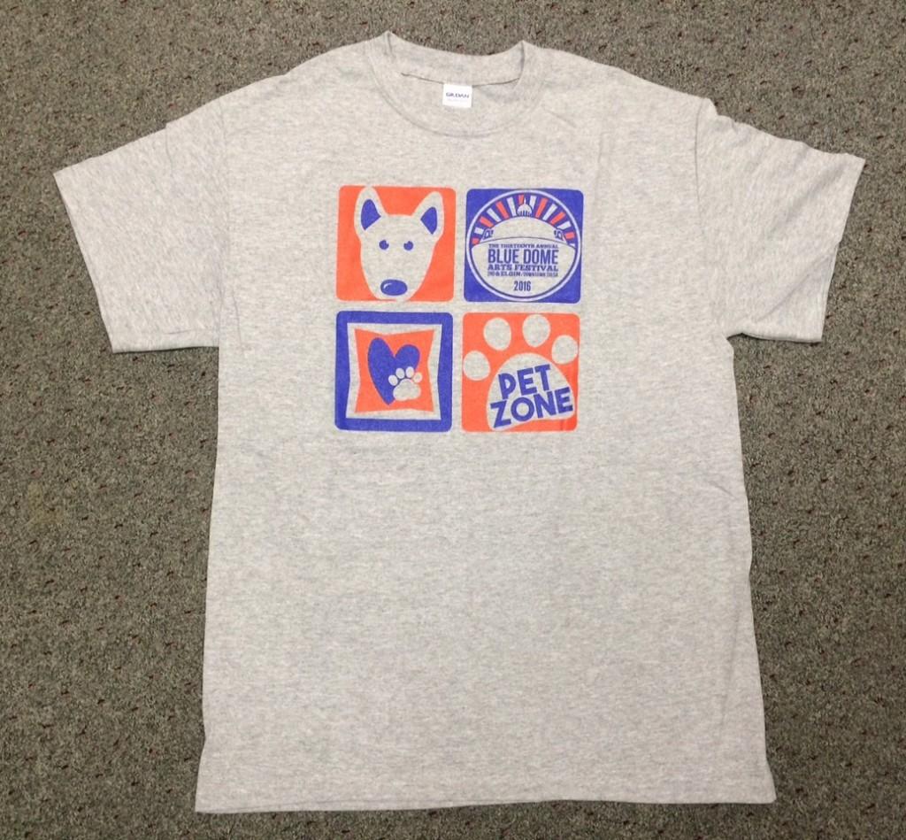 Blue Dome t-shirt back